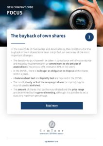 Focus : The buyback of own shares