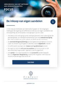 Focus - inkoop van eigen aandelen - NL